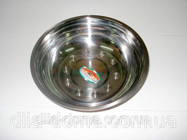 Миска из нержавеющей стали, диаметр 34 см