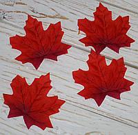 Осенний листочек красный 10 см 1 шт