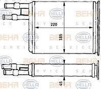 Радиатор печки Fiat Ducato 1994-2002 220*195 644893
