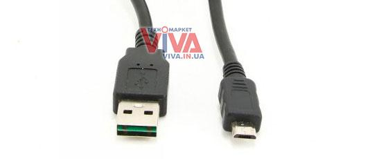 Кабель USB (двусторонний разъем) Cablexpert CC-mUSB2D-1M (USB-AM to Micro-5P) Black 1 м
