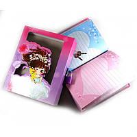 Блокнот с замком для девочек сиреневый (2 ключа) (16,5х13х3,5 см)