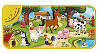 Музыкальный развивающий коврик КІ-781-U Домашние животные на украинском языке.