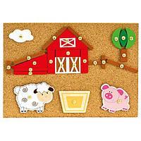 Игровой набор с молоточком - Ферма, 170 дет., 82198,  Bino