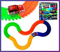 Детский конструктор, светящийся трек Magic Tracks/Мэджик Трек  220 деталей, фото 1