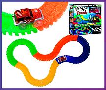 Детский конструктор, светящийся трек Magic Tracks/Меджик Трек  220 деталей