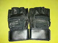 Перчатки для фитнеса кожаные, перчатки без пальцев для спортзала, фитнеса, атлетики