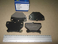 Колодка тормозная TOYOTA YARIS 1.0 16V, 1.3 16V, 1.5TS, 1.5VVT-I 99-05 заднего (производитель SANGSIN) SP2044
