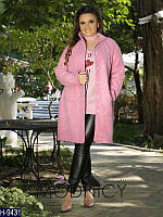 Женское шерстяное пальто большого размера 48-64