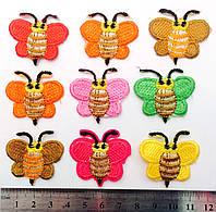Аппликация пчелка термо- клеевая,(70шт в упаковке)