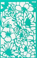 Трафарет многоразовый самоклеющий Фоновый №1000 серия Цветы  13x20 мм Rosa Talent