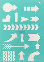 Трафарет многоразовый самоклеющий Фоновый №1303 серия Абстракция  13x20 мм Rosa Talent