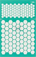 Трафарет многоразовый самоклеющий Фоновый №1304 серия Абстракция  13x20 мм Rosa Talent