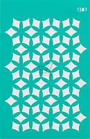 Трафарет многоразовый самоклеющий Фоновый №1307 серия Абстракция  13x20 мм Rosa Talent