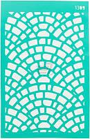 Трафарет многоразовый самоклеющий Фоновый №1309 серия Абстракция  13x20 мм Rosa Talent