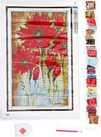 Картина стразами Красные маки Діамантові ручки