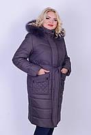 Женская зимняя куртка под пояс