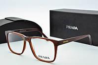 Оправа квадратная Prada коричневая, фото 1