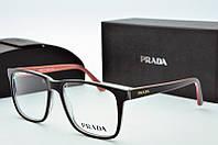 Оправа квадратная Prada черная, фото 1