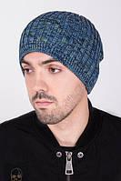 Мужская вязаная шапка под закрепку тёплая