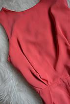 Комбинезон/ромпер кораллового цвета с кружевной спинкой Topshop, фото 3