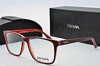Оправа квадратная Prada бордовая, фото 1