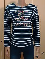 Свитшот джемпер в полосу Chanel 901 42-46р