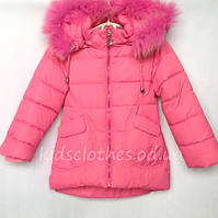 """Куртка зимняя детская для девочек """"Kiko"""" розовая. Размер: 98-116(3-6 лет)"""