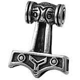 Амулет кулон Кулон Молот Тора Серебрение 2.8 x 2.0 x 0.8 см, фото 4