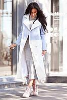 Пальто стильное женское миди из кашемира на сатиновой подкладке 3 расцветки Gdi209