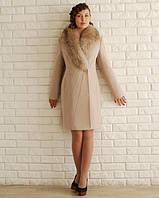 """Шикарное пальто - """"зима"""" с мехом енота"""
