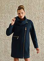 Пальто женское со съемным воротником