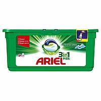 """Гель- капсули Ariel 3 в 1 """" Гірське  джерело"""" 30 шт в упаковці"""
