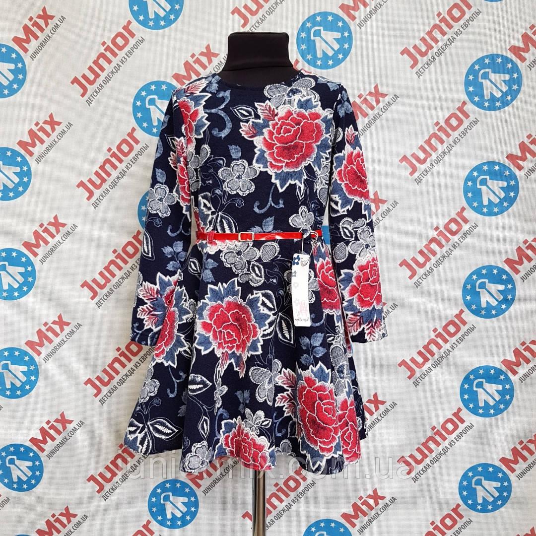 Детское нарядное платье  в цветы для девочек оптом Alessia. ПОЛЬША