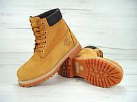 Женские зимние ботинки Timberland 6 inch Yellow Boots с натуральным мехом