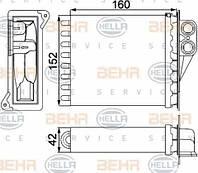 Радиатор печки Mercedes Sprinter 906 (дополнительная печка) 0038353501