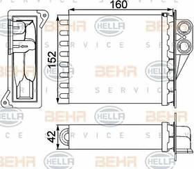 Радиатор печки Mercedes Sprinter 906 (дополнительная печка) KEMP