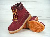 Женские зимние ботинки Timberland 6 inch Bordo Boots с натуральным мехом