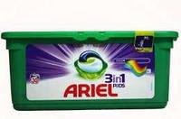 """Гель- капсули Ariel 3 в 1 """" COLOR STYLE"""" 30 шт в упаковці -3 види"""