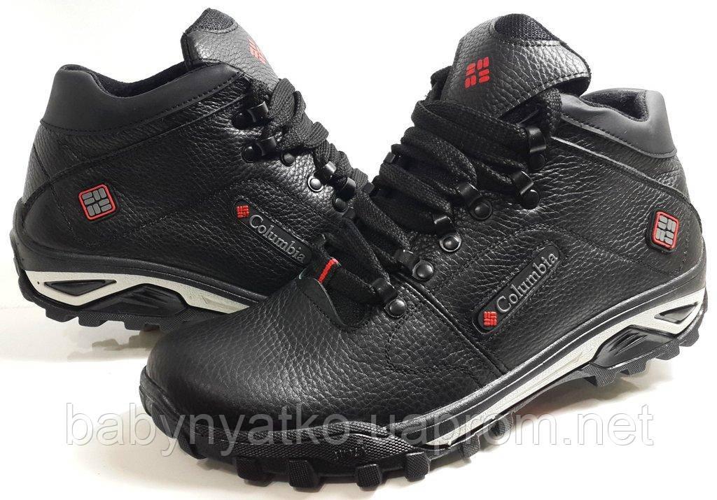 b34cbb55fc9a Зимние мужские кожаные ботинки Columbia model GL-WALK р.41-45 утепленные  шерстяным