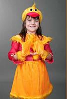 """Детский карнавальный костюм """"Уточка"""" (12078). Универсальный размер 3-6 лет. Велюр. Быстрая доставка."""