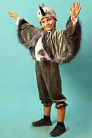 """Детский карнавальный костюм """"Журавль"""" (13465). Универсальный размер 3-8 лет. Велюр. Быстрая доставка"""