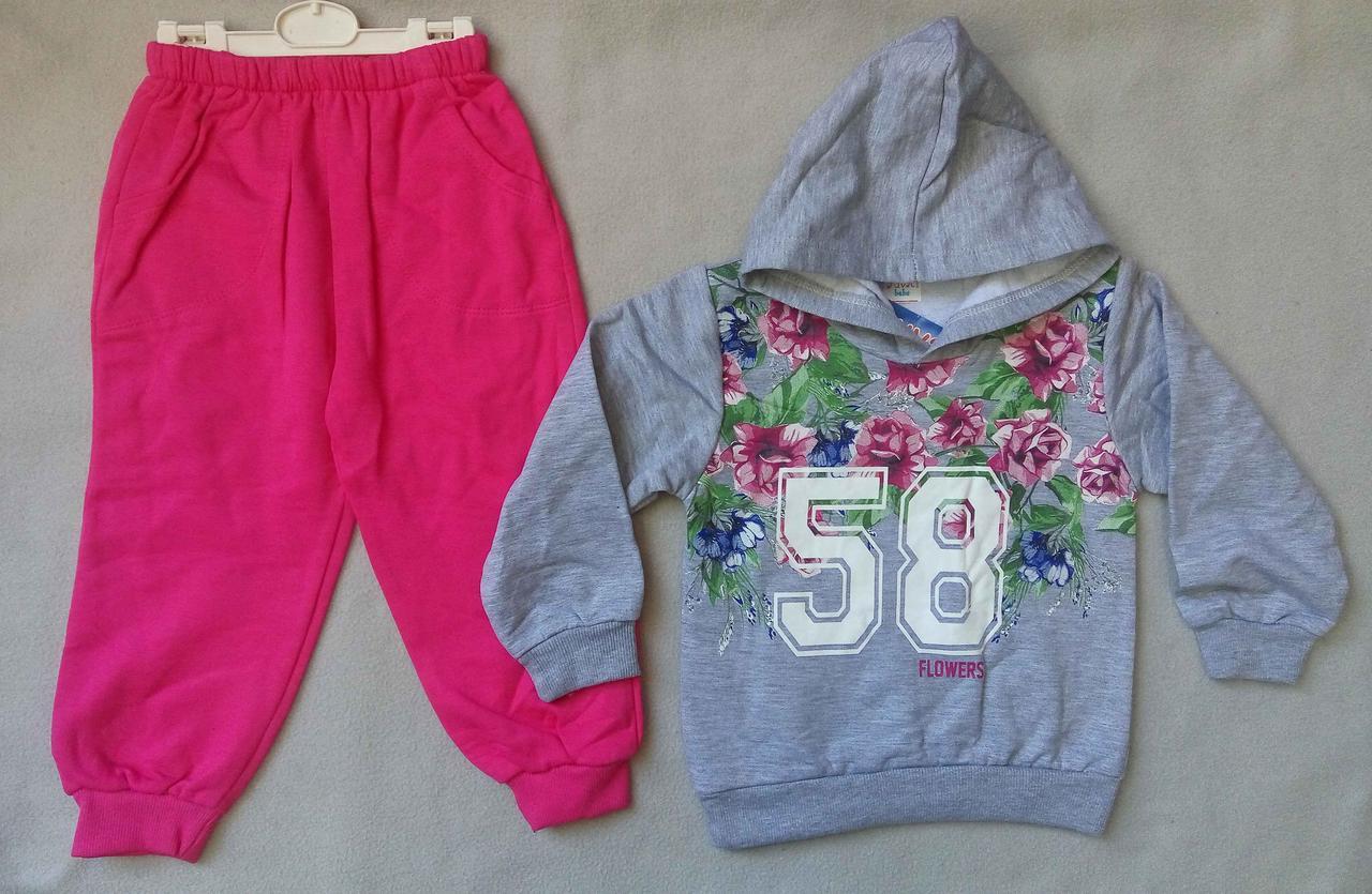 ca0b1a0ae6b6 Детский спортивный костюм с начесом на девочек 4-6 лет Турция оптом ...