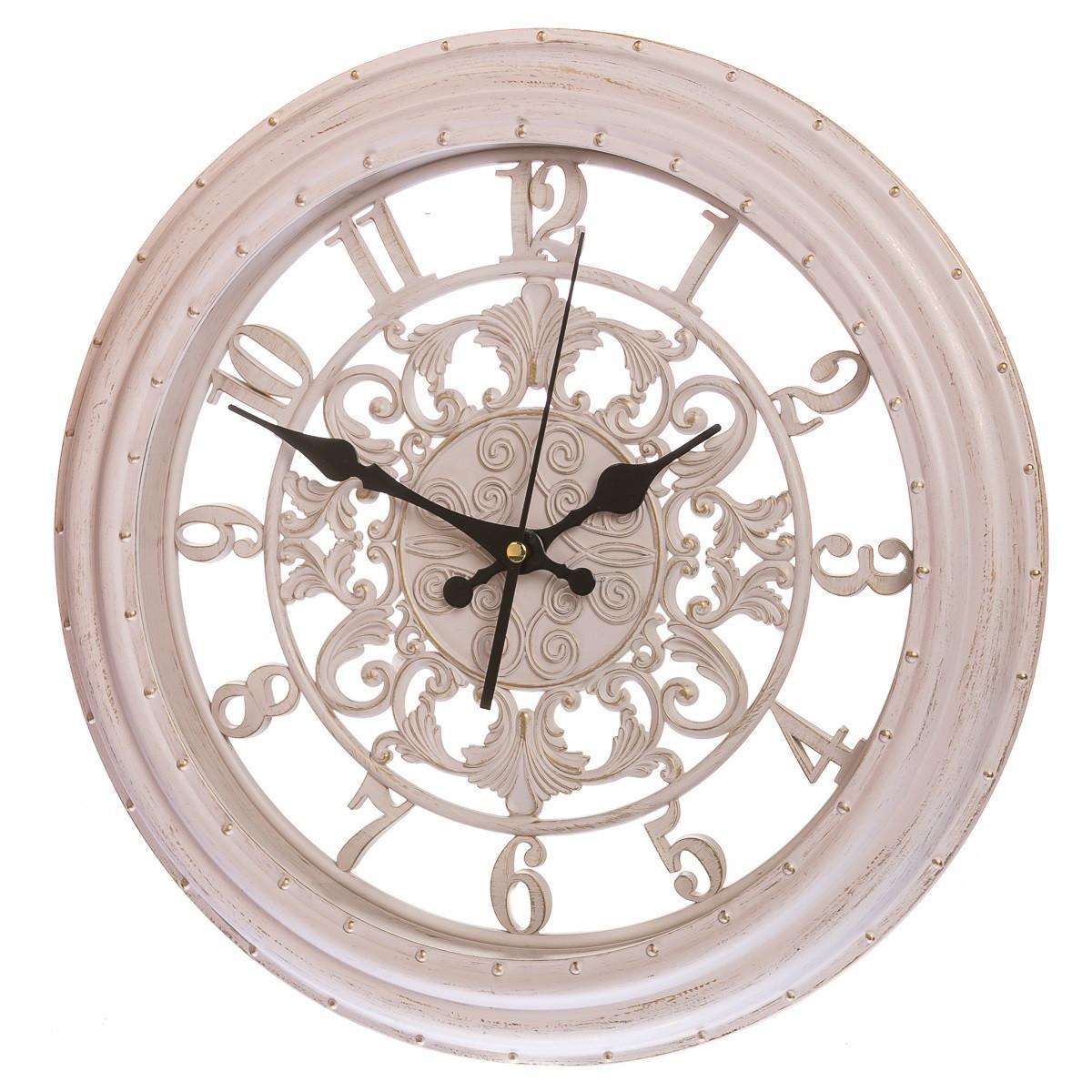 Кварцевые настенные часы 36 см (133A/cream)