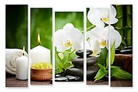 Модульная картина орхидея и свечи