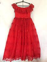 Детское нарядное платье  8-12 лет,красное