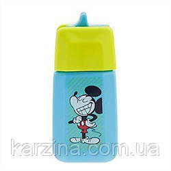 Бутылка с соломинкой 330мл. для соков Микки Маус Disney