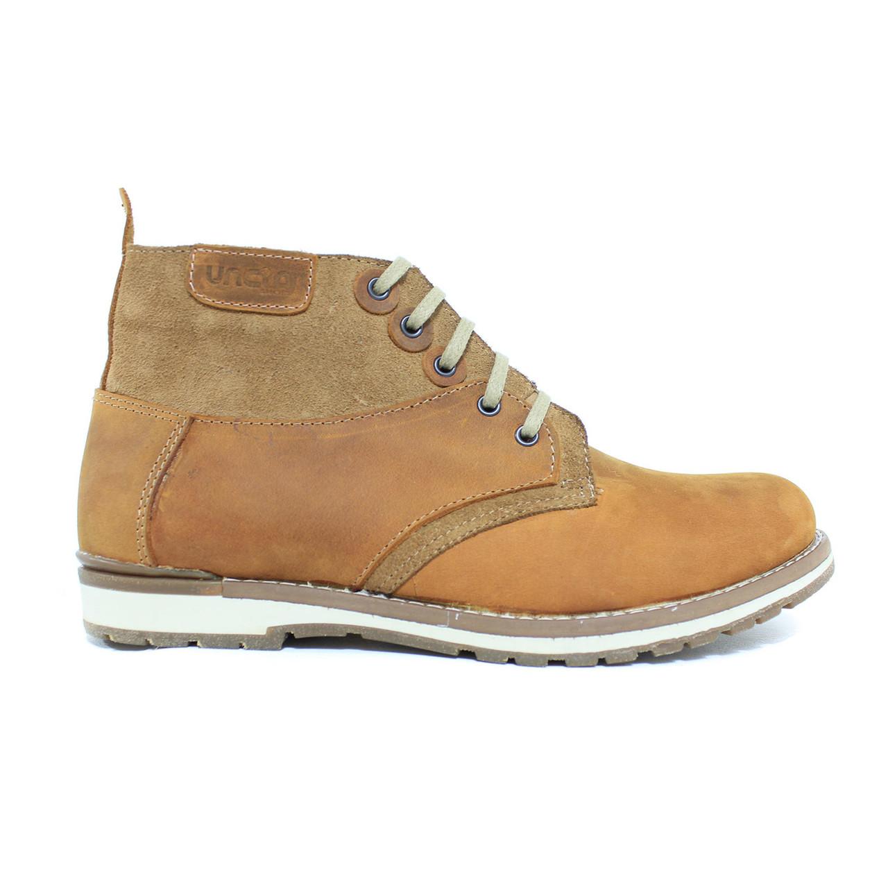 Мужские кожаные зимние ботинки на меху (шерсть) UNCIA SHOES - Интернет-магазин UNCIA в Чернигове