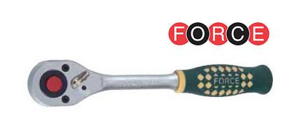 """Трещотка 1/2"""" 24 зубца с резиновой ручкой (Force 80243)"""