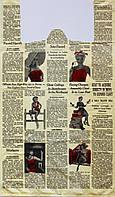 """Пакет полиэтиленовый Майка  """"Газета"""", Упаковка: 50 шт, Ширина: 34 см, Высота: 60 см"""
