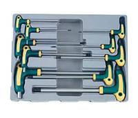 Набор ключей 6-гранных (HEX) Г-образный с шаром 10 пр. (2-12 мм)